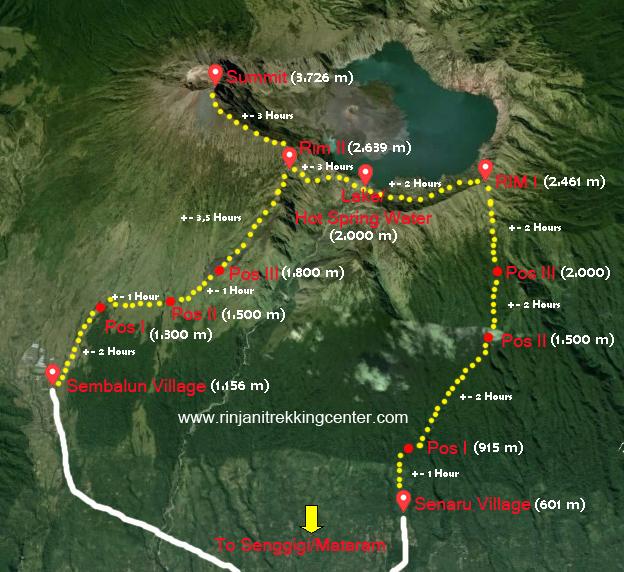 rinjani-trekking-map
